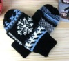 fashion women knitted snowflake gloves,winter mitten, winter glove