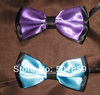 purple and terquaise polyester mens bow tie