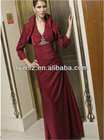A965 new arrival Exquisite A-line halter V-nick fashion sex design fashion mother of the bride dresses with long jacket