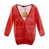 2012 Autumn romantic lady knitting wear ,candy color ,tops,clothes,apparel,