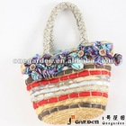 2012 New Lady Quilted Cotton Unique Straw Handbags