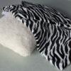 100 Polyester Zebra Print Flannel Pillow Shell