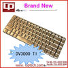 Hot Sale Laptop Keyboard for HP DV3000 TI Version Bronze Notebook Keyboard Whoelsale