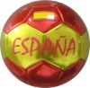 spain promotional socer ball size 5 high shiny metallic material by heima factory with BSCI cetificate