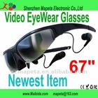 "factory price 67"" 3d Video Glasses for Apple/iPod/ iPhone/ iPod touch"