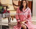 long fleece bathrobe