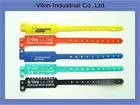 Muit-color PE Id bracelet wristband