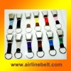 Top classic airline webbing keychain