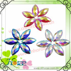 boat shape colorful resin beads for decoration