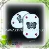 fancy square shape acryl beads plastic button for decoration