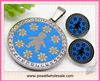 Exquisite Stainless Steel Solid Blue Bear Pattern Gift Jewelry Set