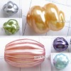 Imitated wood plastic beads, 18x8mm, sold by weight(kg), PB0648