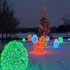 LED motif light/ LED ground decorative ball light /blinking LED hanging ball motif light /3D LED ball light