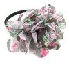 2013 crochet elastic headband hair accessaries for girls printed flower