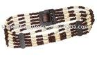 fashion belt ladies' belt women's belt lady belt woven belt waistband wooden bead belt
