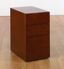 Contemporary cherry veneer office desk high pedestal SON-65CHY