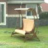outdoor garden rattan swing or patio ricker swing