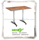 Square Aluminum Table With Wood