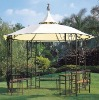 HY-701W with curtain spire round outdoor gazebo tent