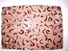PVC synthetic artificial fake fur embossed leather