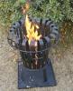 steel metal outdoor fire basket