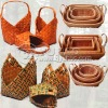 BEAUTIFUL WOODEN BASKET WITH FOLDABLE HANDLE