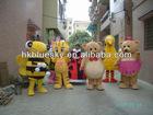 Sea street big bird mascot,fur plush big bird mascot