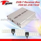 DVB-T303B Car DVB-T TV receiver box with dual antenna HD MPEG4 1080P