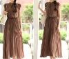 2012 hotselling fashion ladies pleated dress