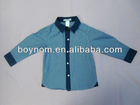 Cotton fashion shirt for boys manufactory