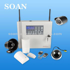 HOT NEW dvr alarm system GSM/pstn auto switch with IP camera PC DVR 4channels wired video inputs pc record alarm system auto dia