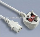 UK power cord with plug