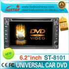 "LSQ Star double din 6.2"" Universal car dvd player with GPS+BT+3g+IPOD"