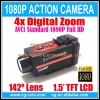 Full HD 1080P Water-resistant Sports Action Helmet Camera with 1.5' TFT LCD + HDMI Output 1920x1080 30FPS, Car DVR