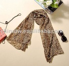 [dc1830] Guaranteed 100% wholesale and retail sexy leopard print soft silk lady scarf with a toy decorate