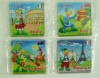 Paper fridge magnet with note pad,Magnetic photo frame,Cartoon,Animals, Fruits
