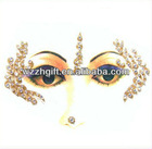 Bindi Sticker Body Tattoo Bollywood Belly Dance Performer Crystal Eye Jewelry