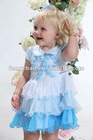 Chiffon flower baby girl dress