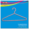 Household plastic beaded clothes hanger with high quality
