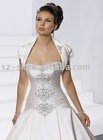 Short sleeve bridal jacket satin SL-91