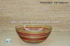 Hand printing glass bowl