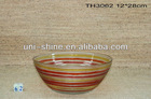 Hand printing glass bowl