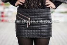 The newest mini fashional genuine sheepskin leather skirt 2012