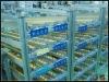 JS Warehouse gravity shelves, Skate rail wheel rack