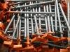 Adjustable scaffolding props U head
