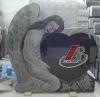 Funeral heart shape stone tombstone /headstone