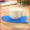 enviroment and eco-friendly beautiful silicone square mug tray