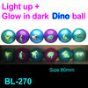 80mm air ball,bouncing ball,air ball,glow in the dark dinosaur air ball