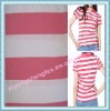 Matching Collar And Cuffs, T/C/ CVC/ 100%Cotton/ Cotton With Spandex Yarn Dyed Stripe Pique Fabric/ Stripe Polo Shirt Fabric