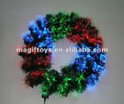 LED Fiber Optic Christmas Wreath decoration